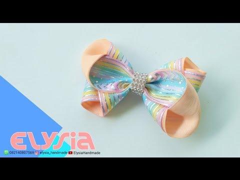 Laço Clarissa II 🎀 Ribbon Bow 🎀 DIY by Elysia Handmade