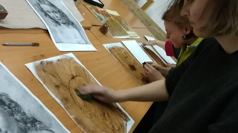 Подготовительный этап к КОПИИ работы Тропинина - портрет Девочки