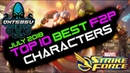 Top 10 Best Free To Play F2P Characters - July 2018 - Marvel Strike Force - MSF