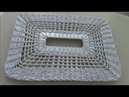 Ажурное плетение прямоугольной крышки для бельевой корзины Интересные и необычные бортику у крышки