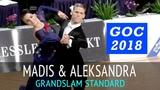 Madis Abel &amp Aleksandra Galkina Медленный фокстрот GOC2018 GrandSlam STANDARD - 3тур