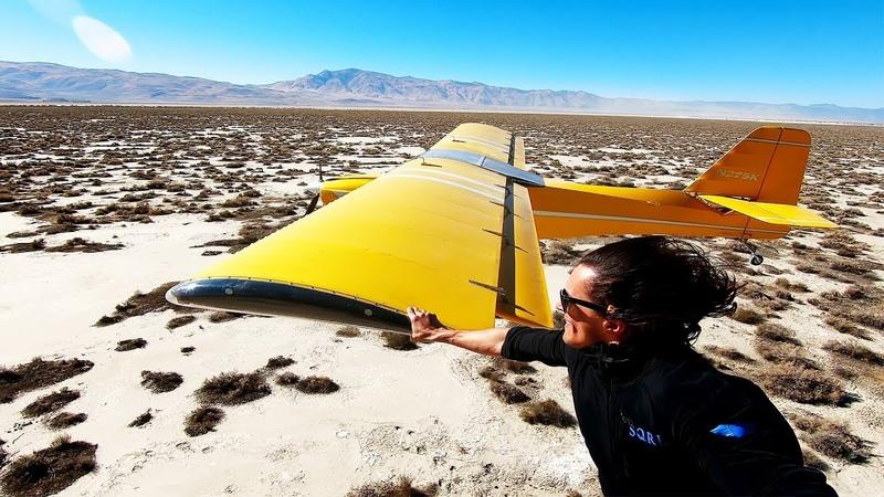 GoPro Awards: Heli to Plane Wing Grab