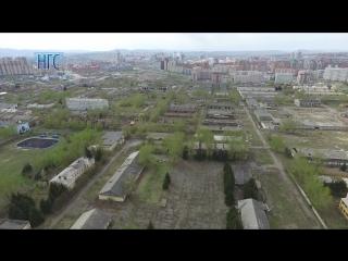 Вид на военный город на Малиновского сверху