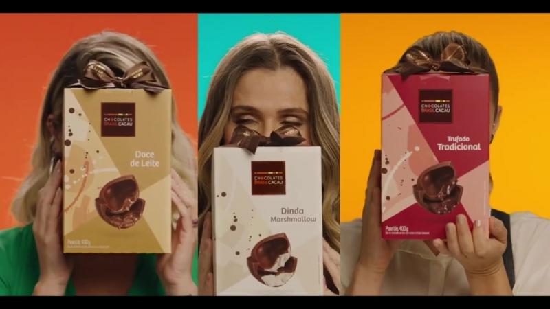 Паолла Оливейра, Ингрид Гимараес и Флавия Алессандра в рекламе Chocolates Brasil Cacau
