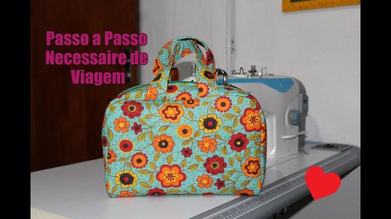DIY - Passo a Passo Necessaire/maleta de Viagem