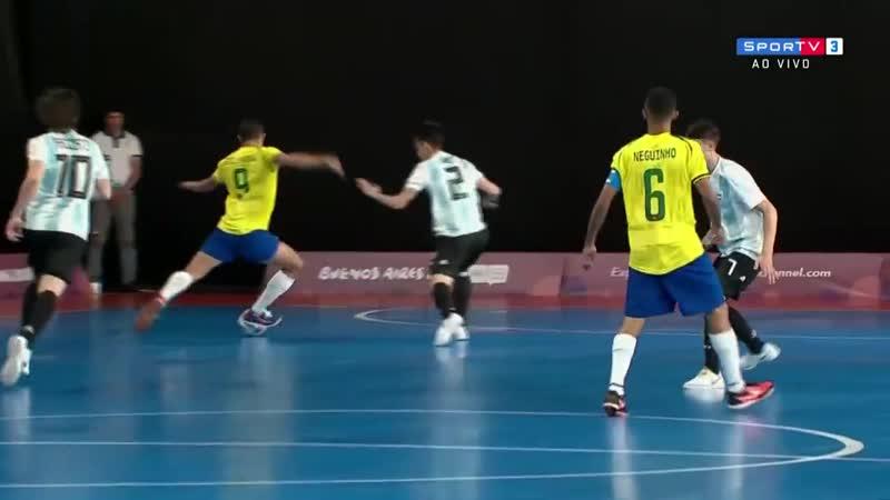 Юношеские Олимпийские игры 2018. Полуфинал Бразилия - Аргентина 3:2