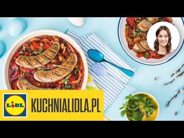Biała kiełbasa z suszonymi pomidorami - Rodzina Mazurków - przepisy Kuchni Lidla