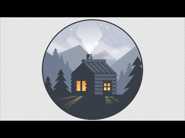 Inkscape Tutorial   How To Make Wooden House Step By Step