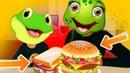 Челлендж Голодные лягушата или кто быстрее накормит Yanchik Malchik Видео для детей