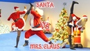 Santa Vs Mrs Claus in Real Life Christmas Special Flips Kicks