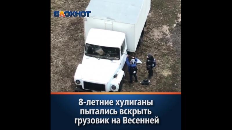 8-летние хулиганы попали на видео при попытке вскрыть грузовик в Волгодонске