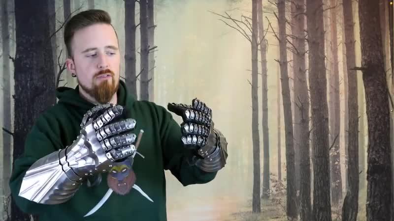 обзор готических латных перчаток