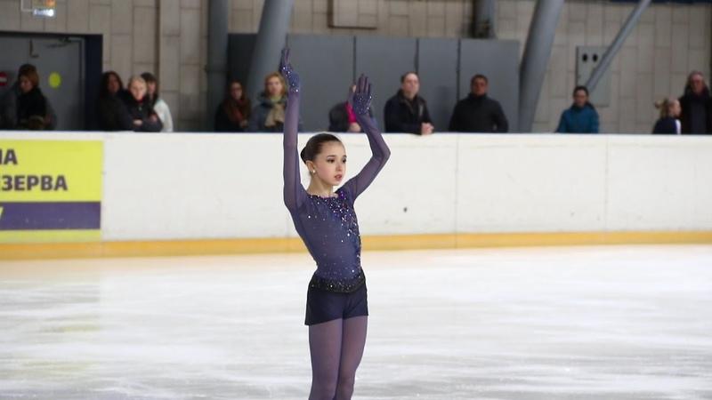 Камила Валиева КП (Kamila Valieva, SP), старшие, Первенство Москвы младшего возраста 2019