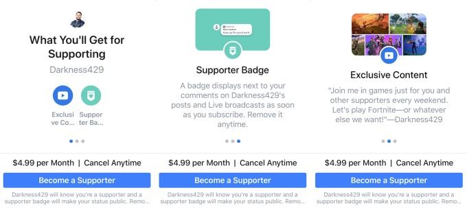 Сервис подписки на авторов контента в Facebook