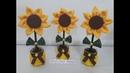 Vasinho de flor de Girassol.Reciclagem de potinhos de papinha de bebê.