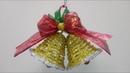 🔔 Campana navideña con limpiapipas