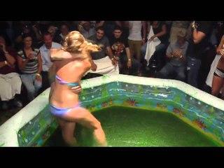 Jello Wrestling @ Club Cal Neva: Bikini Bottom comes off.mp4