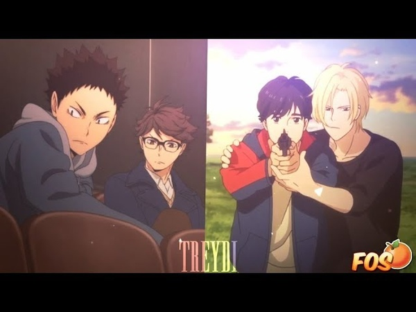 [FOS] Iwaizumi x Oikawa Ash x Eiji [Armor] - Haikyuu!! Banana Fish (Secret Valentine for VIY-CHAN)