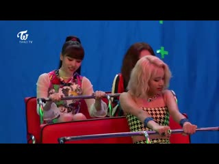 Chaeyoung : i want to go lotte world, i want to go amusement park jihyo : we should go home