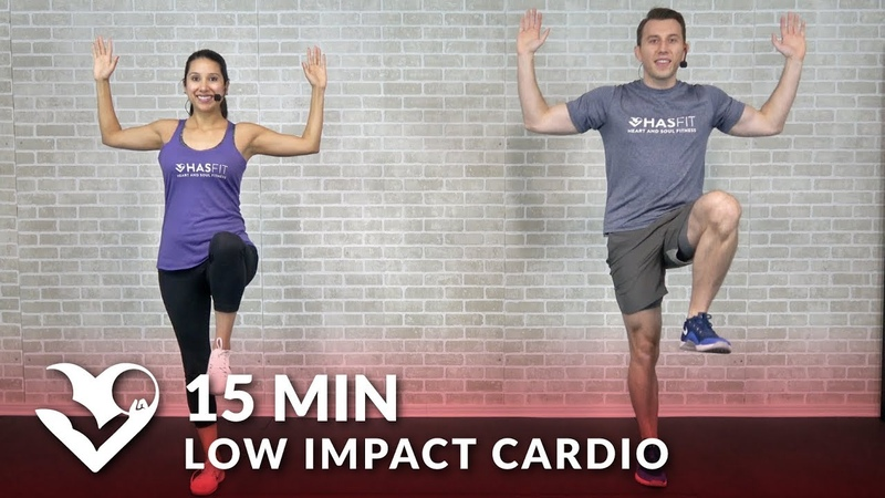 15-минутная низкоударная кардио тренировка для начинающих. 15 Minute Low Impact Cardio Workout for Beginners - Quiet 15 Min Standing Workout with No Jumping