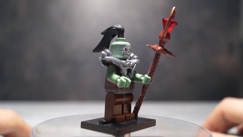 Custom Lego Warcraft orc shaman Nerzhul minifigure