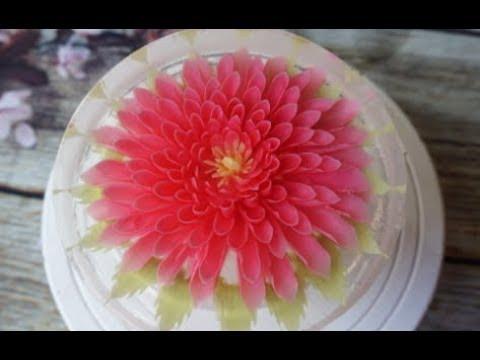 3d JELLY Cake - Flower Jelly Cake | עוגת ג'לי אקווריום של מלכת הג'לי