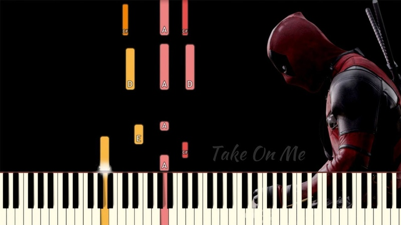 Take On Me (MTV Unplugged) - Deadpool 2 | Piano Tutorial (Synthesia)