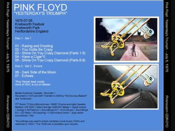 Pink Floyd Yesterdays Triumph' Live Knebworth UK July 5th 1975
