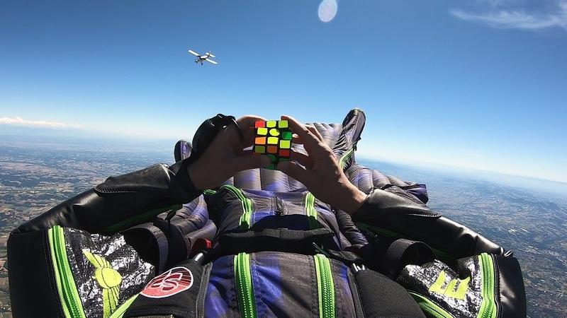 Rubik's Cube Challenge Skydiving
