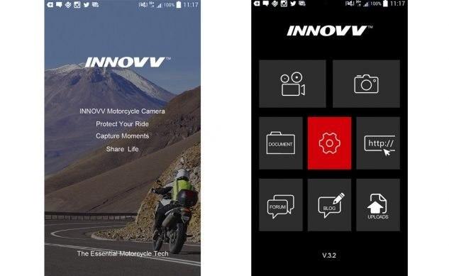 INNOVV K2 - система камер для мотоциклистов