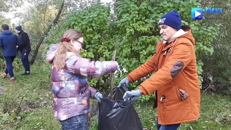 Неравнодушные жители очистили берега реки Гуслицы в Егорьевске