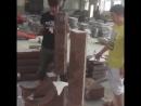 Сборка на сухую сложных конструкций из натурального гранита сделанных по индивидуальному проекту kitaikamen granite china chi