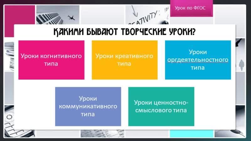 Типология творческих уроков