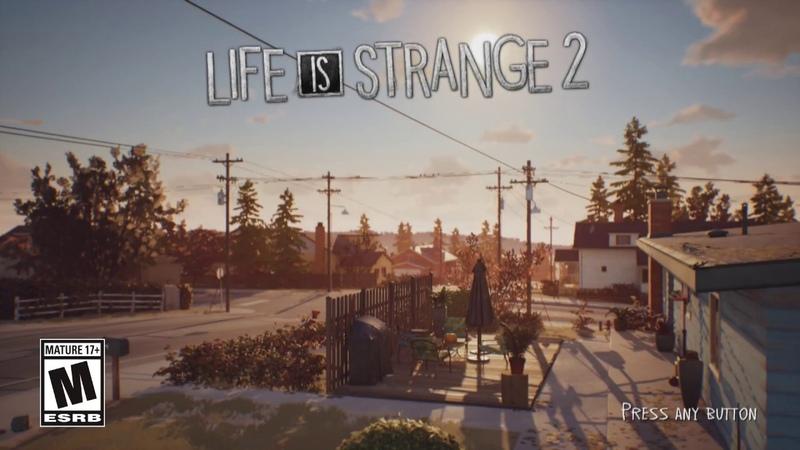 Life is Strange 2 - Ep. 1 Main Menu