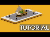 Surfing Boat On Mobile Animation Cinema 4D Tutorial