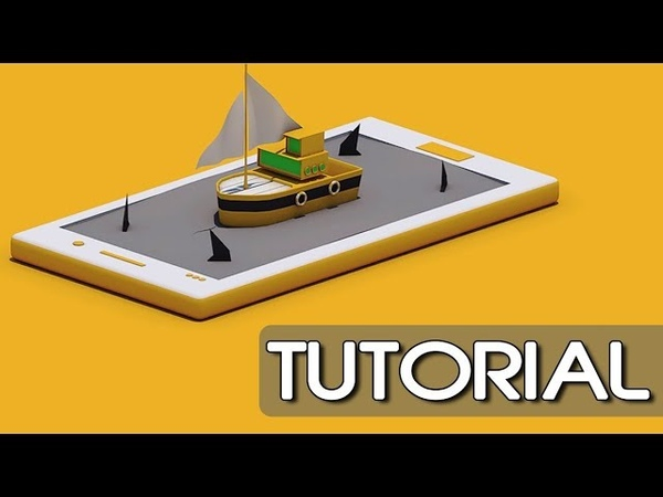Surfing Boat On Mobile | Animation | Cinema 4D Tutorial