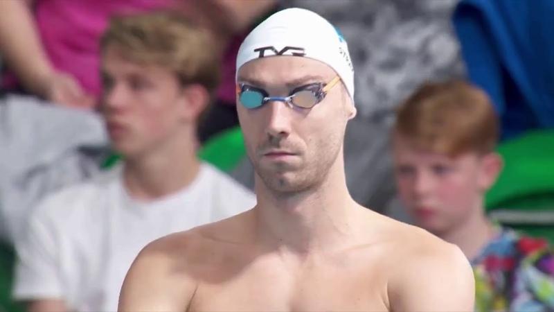 50M Backstroke Men Final - European Swimming Championship 2018