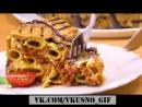 Пирог Из Макарон С Жареными Баклажанами Оригинальный И Очень Вкусный Рецепт