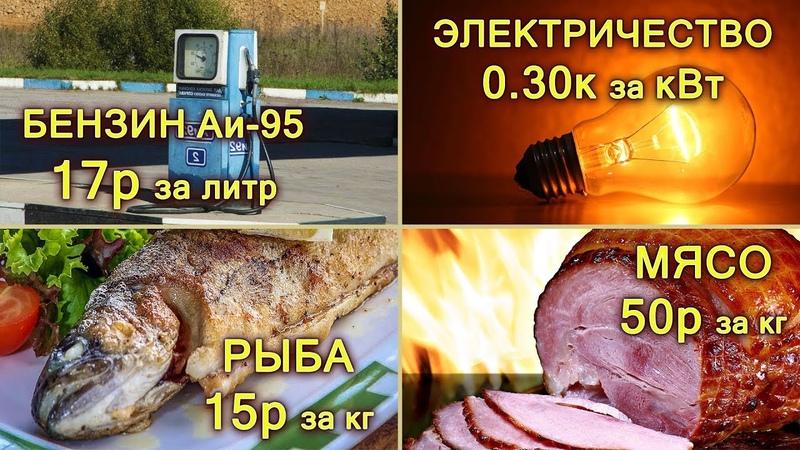 Шок! Сколько в РЕАЛЬНОСТИ стоят продукты питания, бензин, свет и газ?