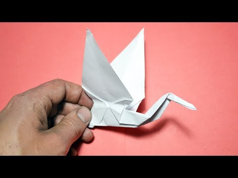 How to make a FLYING SWAN | ORIGAMI Bird out of paper Tutorial DIY