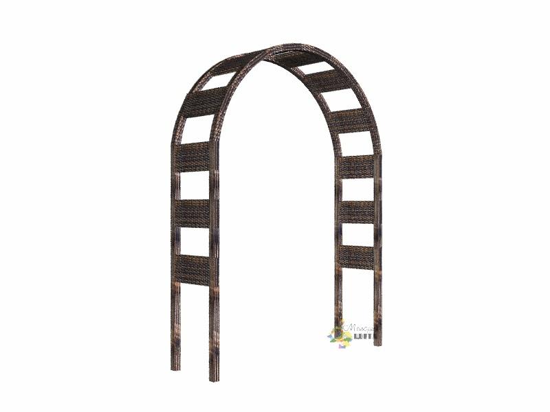"""Садовая арка """"Полосы"""" имеет размеры ширина 1700мм, высота 2500 мм, глубина 500мм"""