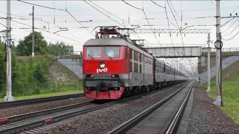 Электровоз ЧС200-009 с фирменным поездом №3 Москва - Санкт-Петербург