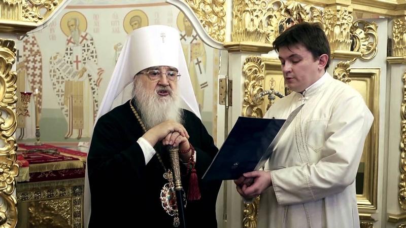 Митрополит Филарет на Пасху совершил богослужение в домовом храме Минского епархиального управления
