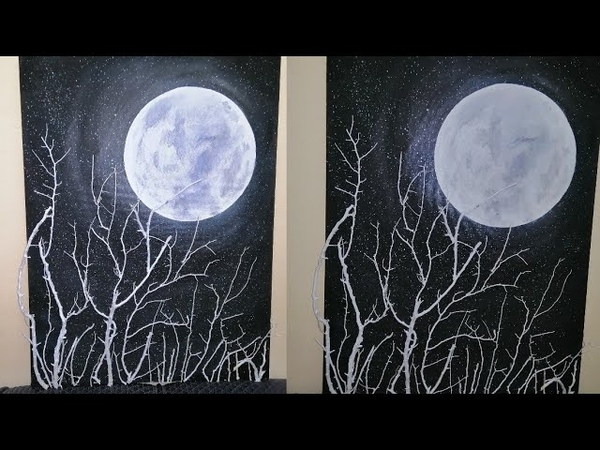 Tree_Branch Creative idea 3 || Real Twigs Craft in Addition to the Moonlit Night Scene ...