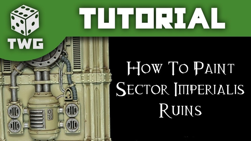 How To Paint Sector Imperialis Ruins: Warhammer 40k Scenery Tutorial