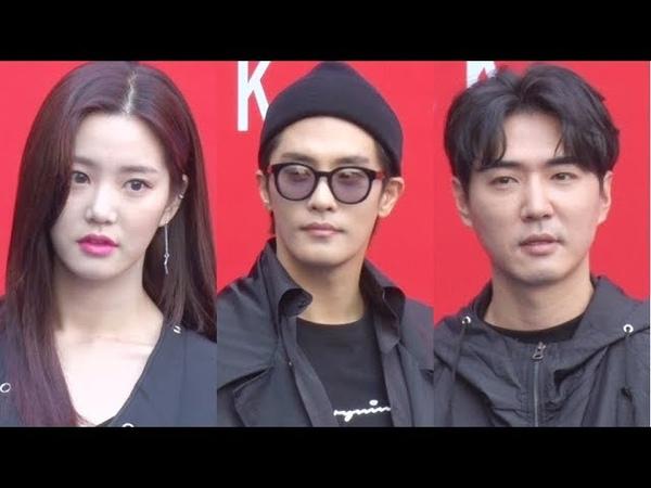 이유비-성훈-데니안, 올블랙카리스마 눈빛 후덜덜 (2019 SS 헤라 서울패션위크)