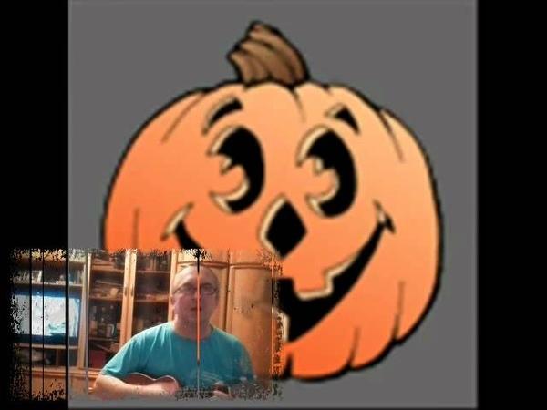5 little pumpkins Halloween song on ukulele