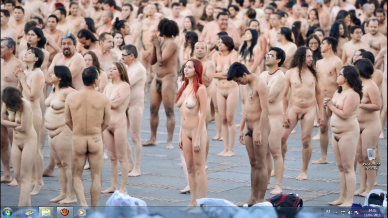 Naked people in the Street of Bogota Colombia - Part 1