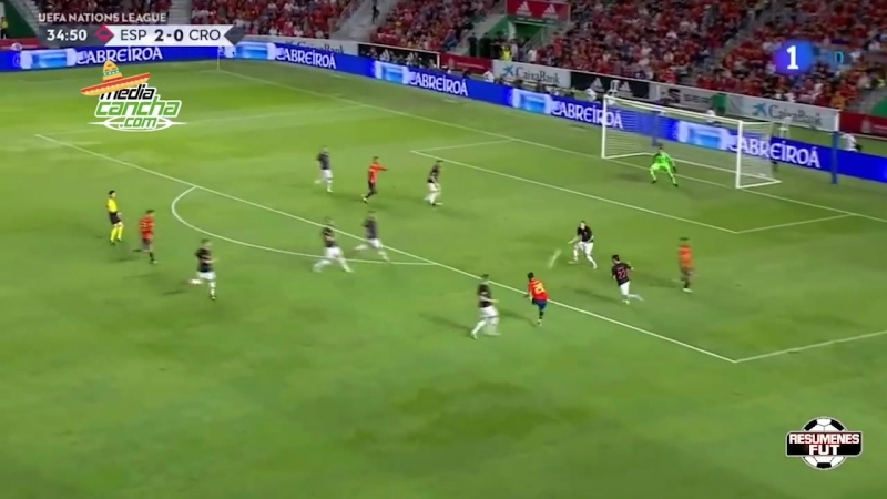 España golea al subcampeón del Mundo