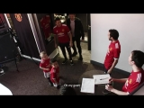 Little Jack and Theo team up with Mata, Sanchez, Lindeof and Jones to prank some United fans.